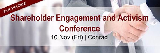 11 Nov - Shareholder Engagement and Activism Conference