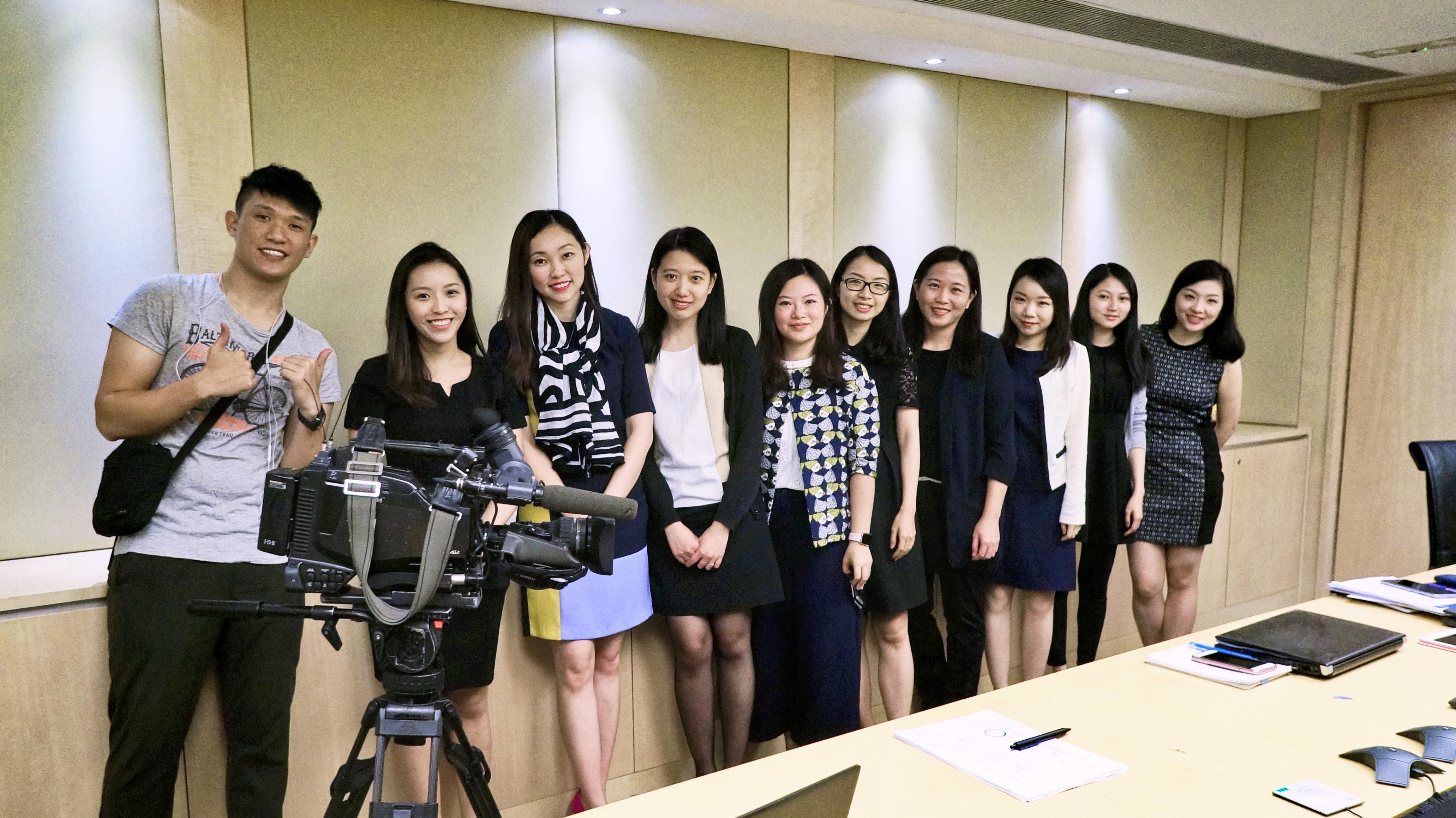 Danita On and IR team of Chow Tai Fook